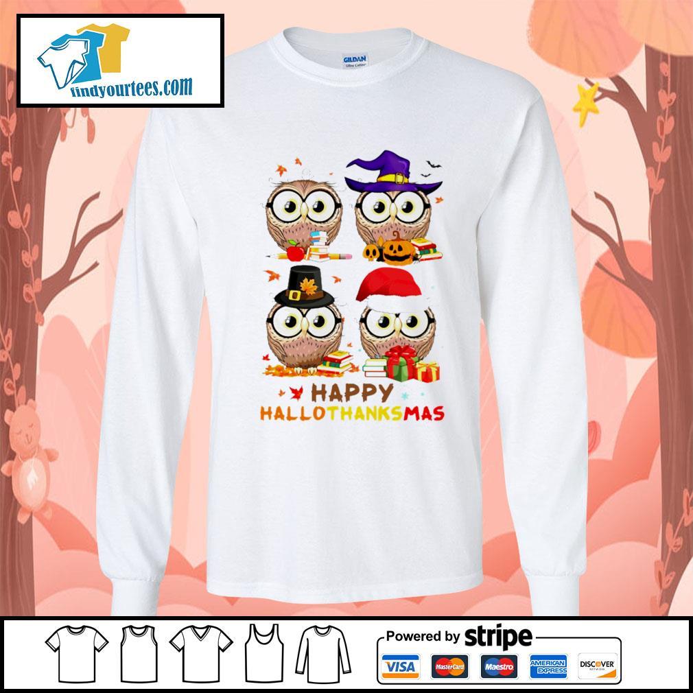 OWL happy hallothanksmas s Long-Sleeves-Tee