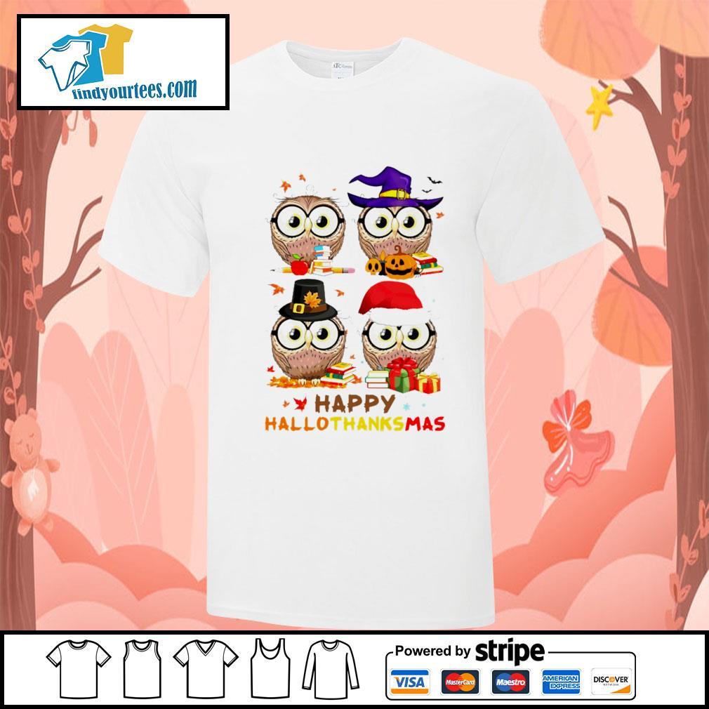OWL happy hallothanksmas shirt