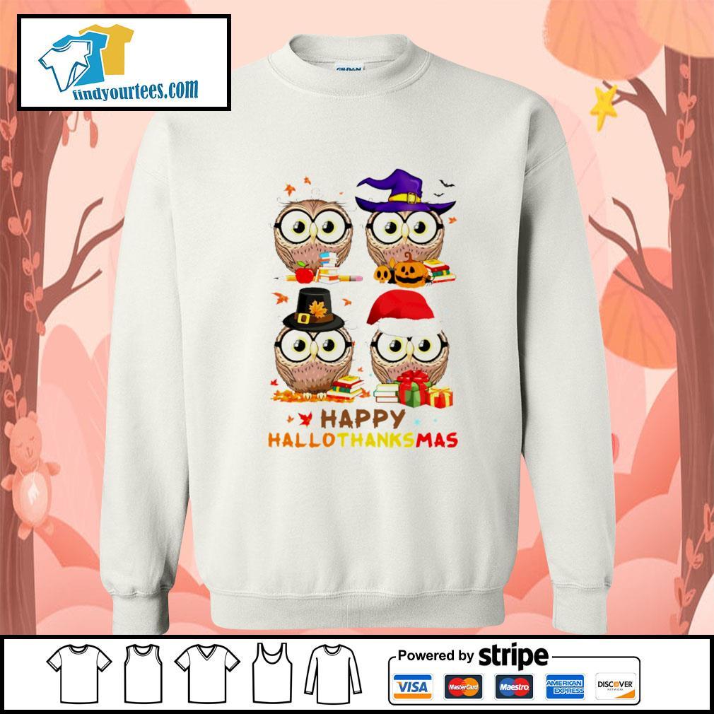 OWL happy hallothanksmas s Sweater