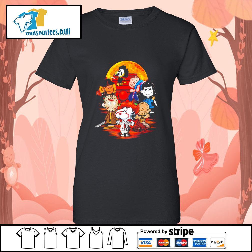 Peanuts characters Halloween shirtt Ladies-Tee