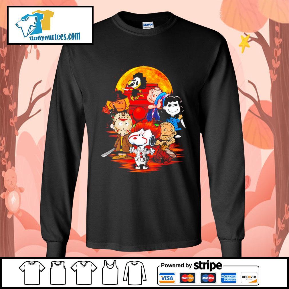 Peanuts characters Halloween shirtt Long-Sleeves-Tee
