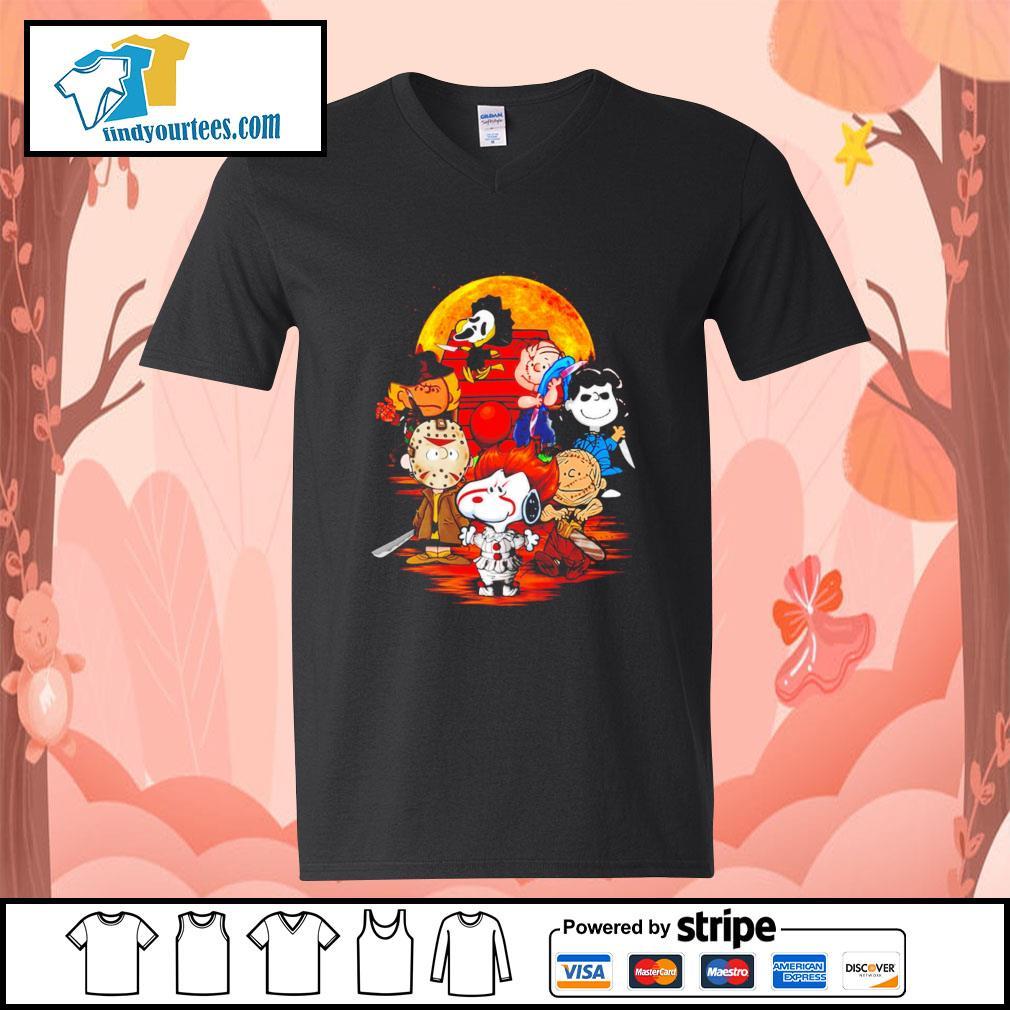 Peanuts characters Halloween shirtt V-neck-T-shirt
