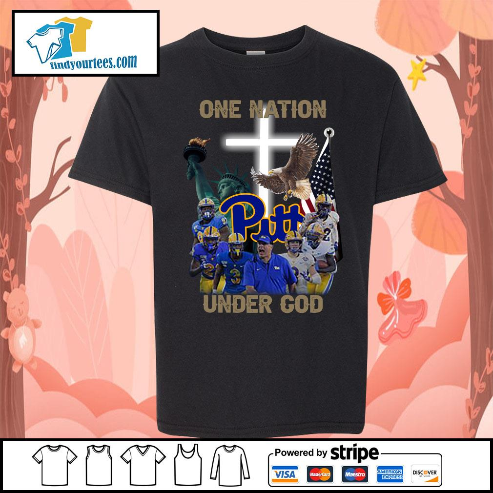 Pittsburgh Panthers one nation under god s Kid-T-shirt
