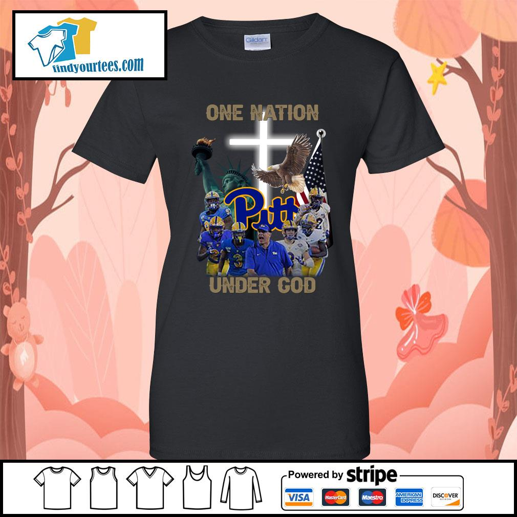 Pittsburgh Panthers one nation under god s Ladies-Tee