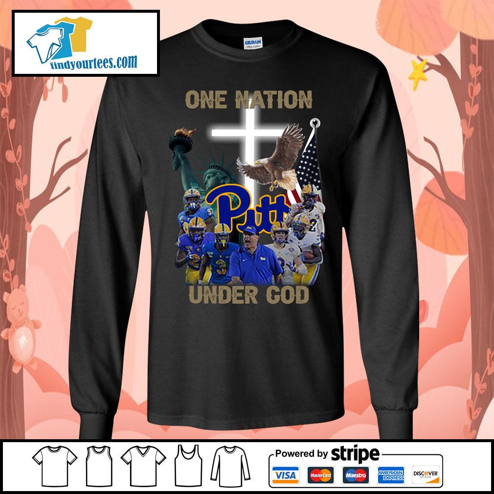 Pittsburgh Panthers one nation under god s Long-Sleeves-Tee