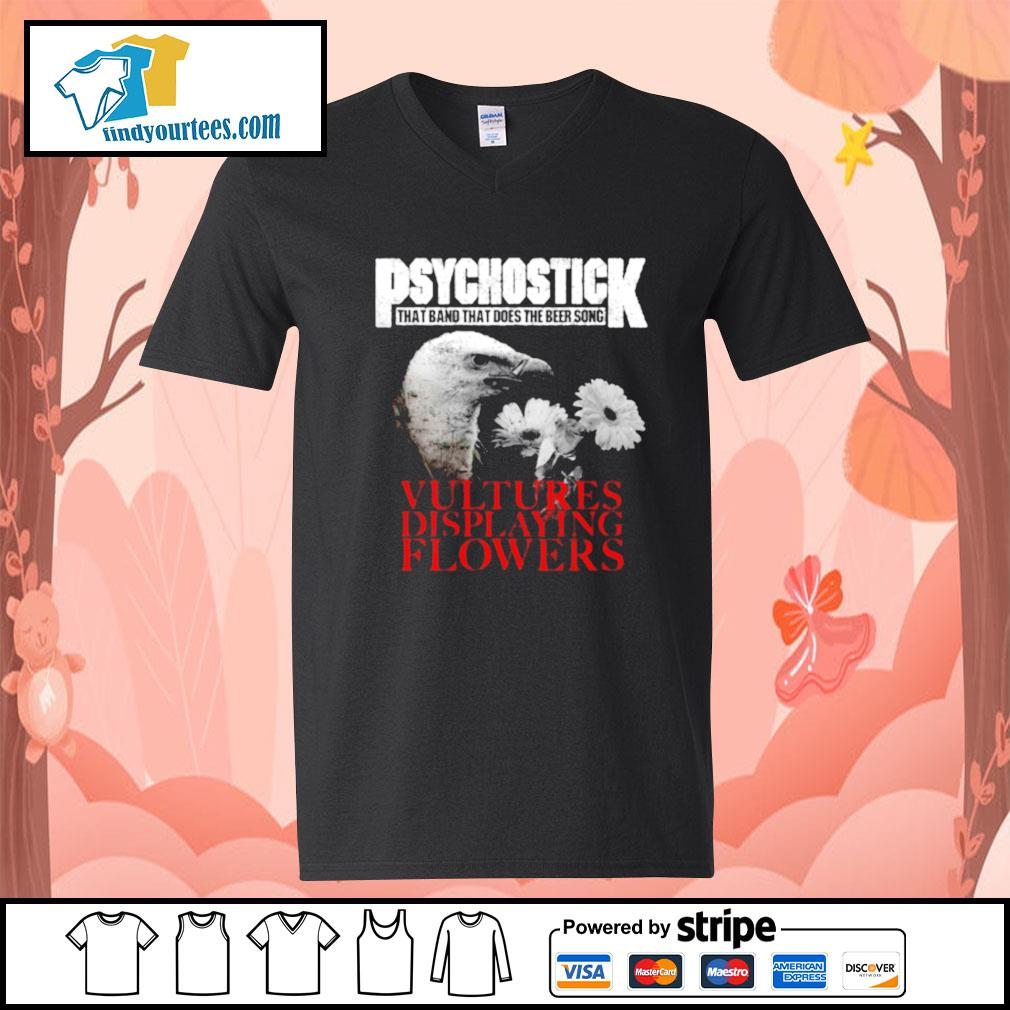 Psychostick that band that does the beer song Vultures Displaying Flowers s V-neck-T-shirt