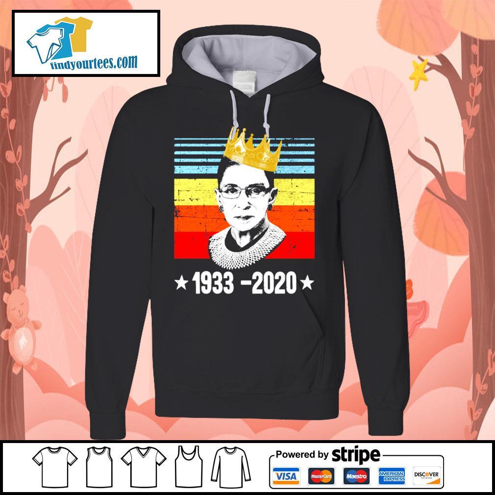 RBG Ruth Bader Ginsburg 1933 2020 vintage s Hoodie