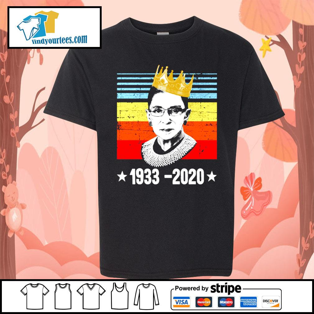 RBG Ruth Bader Ginsburg 1933 2020 vintage s Kid-T-shirt