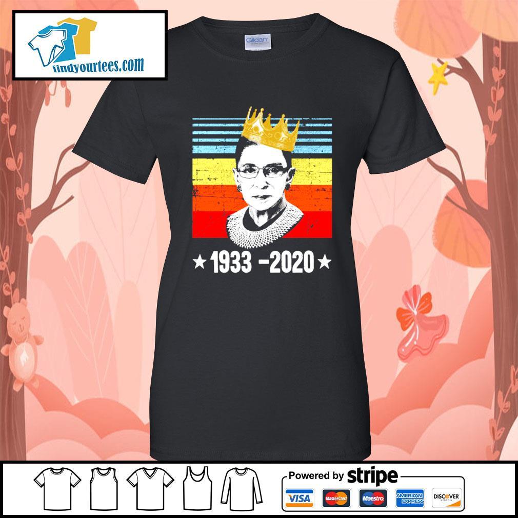 RBG Ruth Bader Ginsburg 1933 2020 vintage s Ladies-Tee
