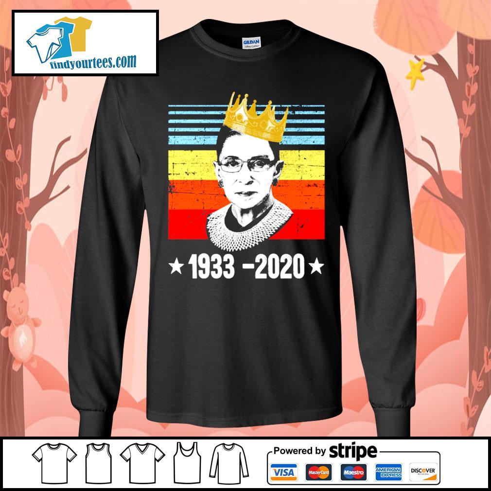 RBG Ruth Bader Ginsburg 1933 2020 vintage s Long-Sleeves-Tee
