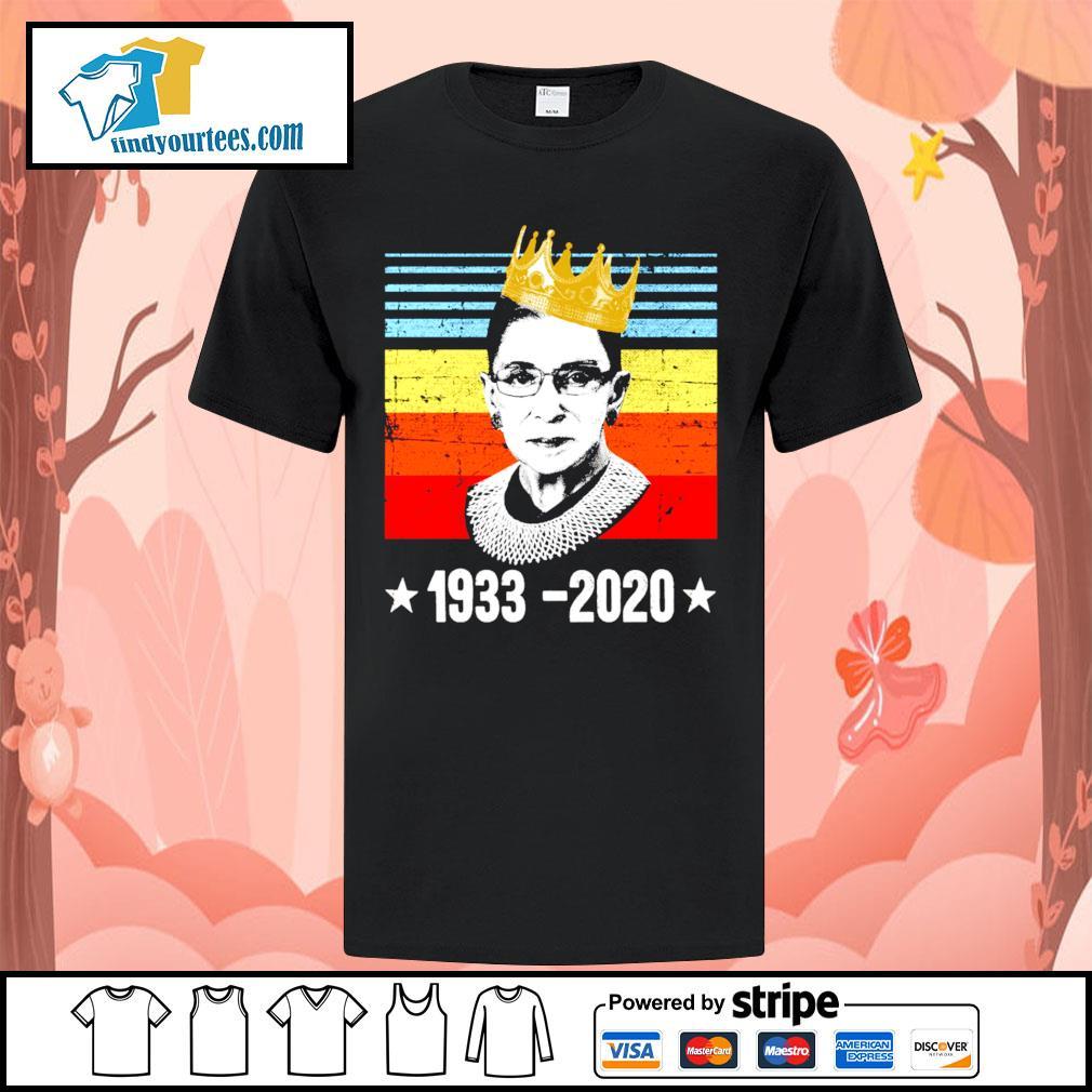 RBG Ruth Bader Ginsburg 1933 2020 vintage shirt