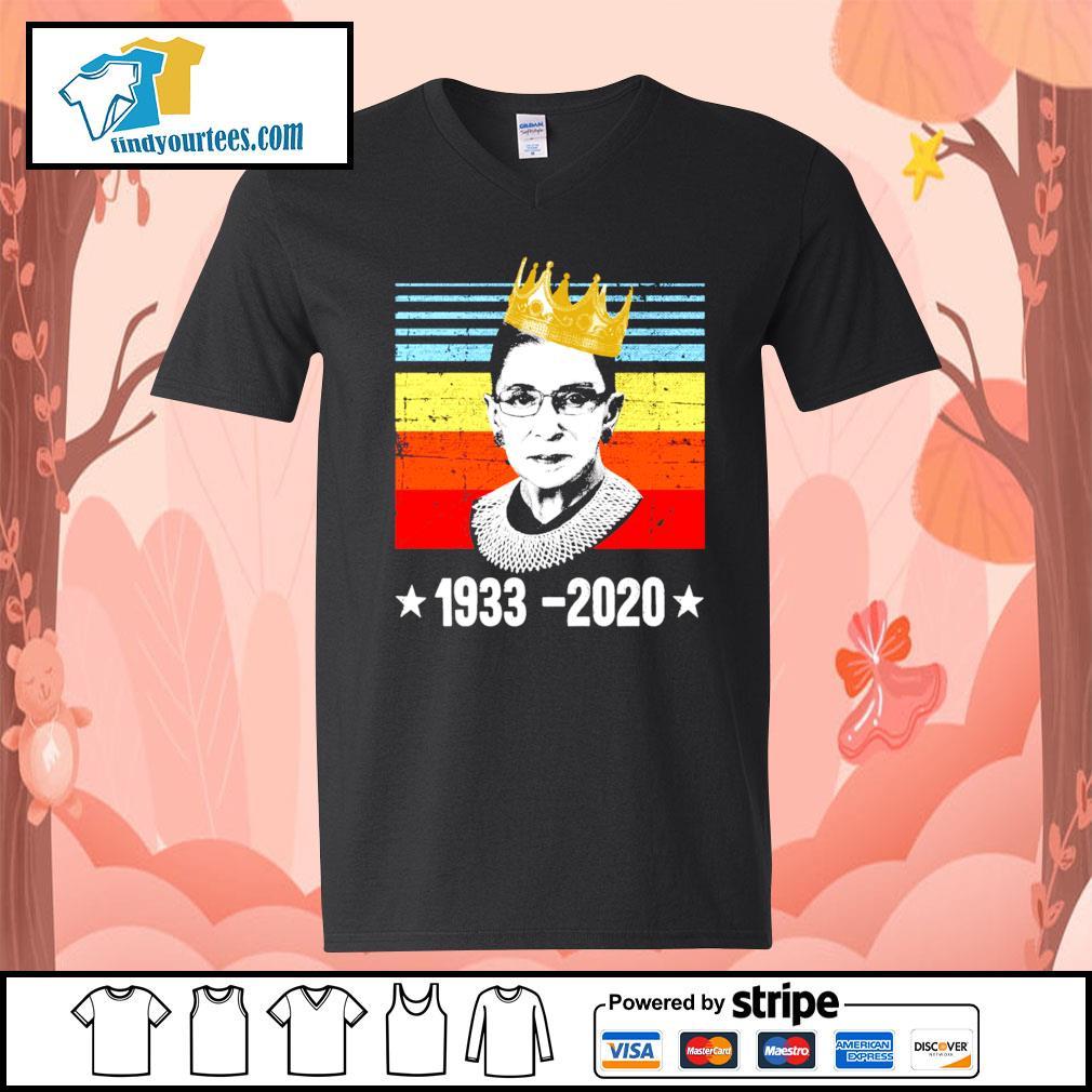 RBG Ruth Bader Ginsburg 1933 2020 vintage s V-neck-T-shirt
