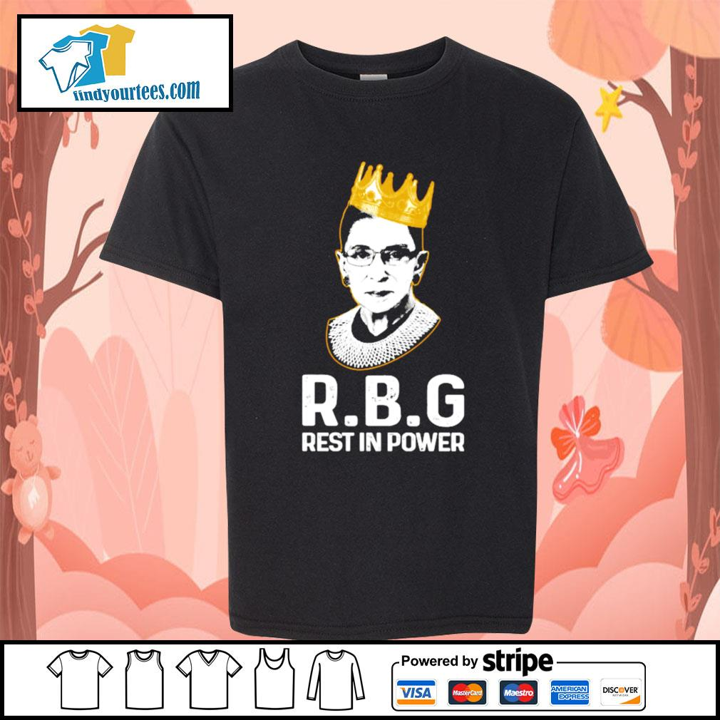 RBG Ruth Bader Ginsburg rest in power s Kid-T-shirt