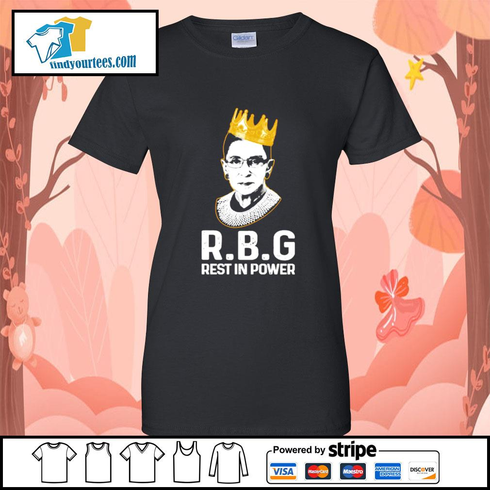RBG Ruth Bader Ginsburg rest in power s Ladies-Tee
