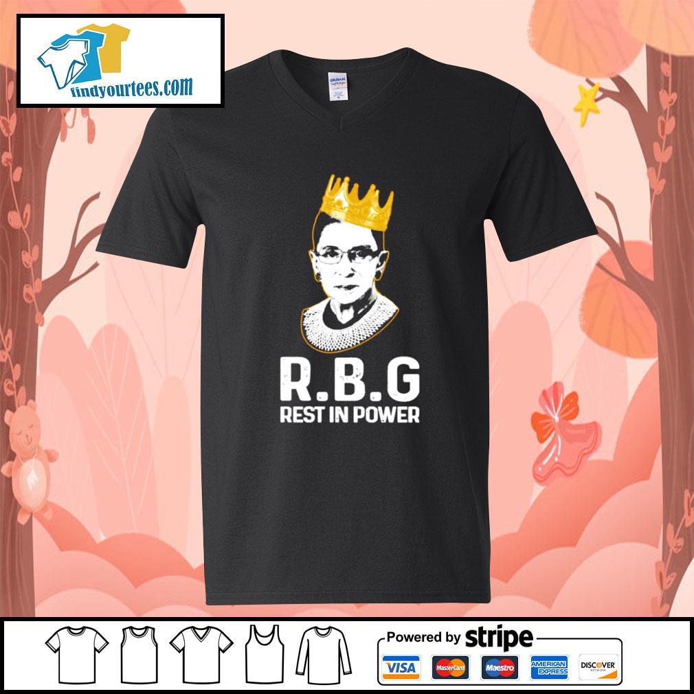 RBG Ruth Bader Ginsburg rest in power s V-neck-T-shirt