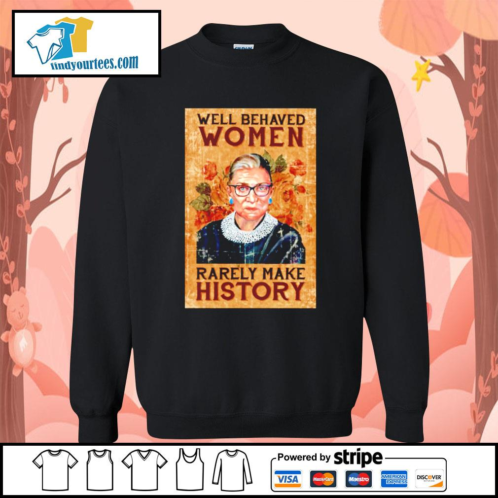 RBG Ruth Bader Ginsburg well behaved woman rarely make history s Sweater
