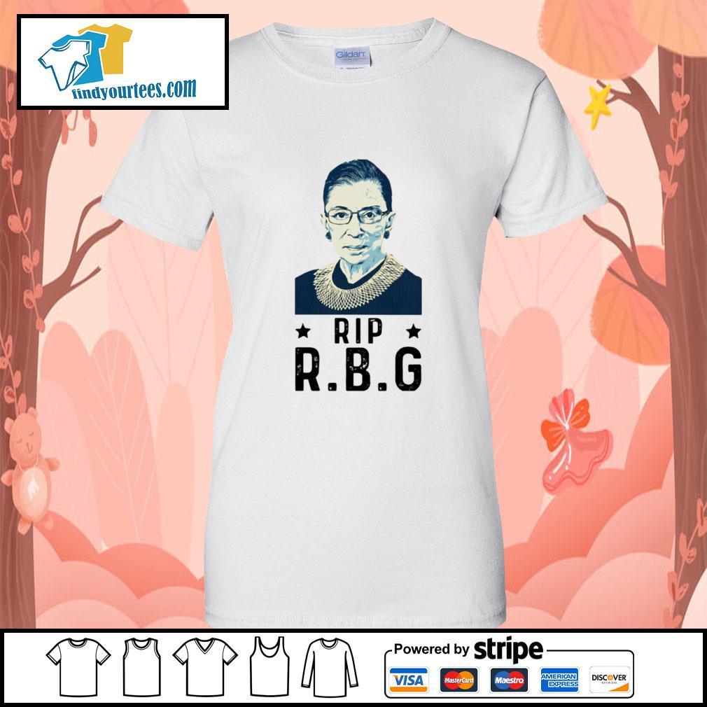 Rip RBG Ruth Bader Ginsburg s Ladies-Tee