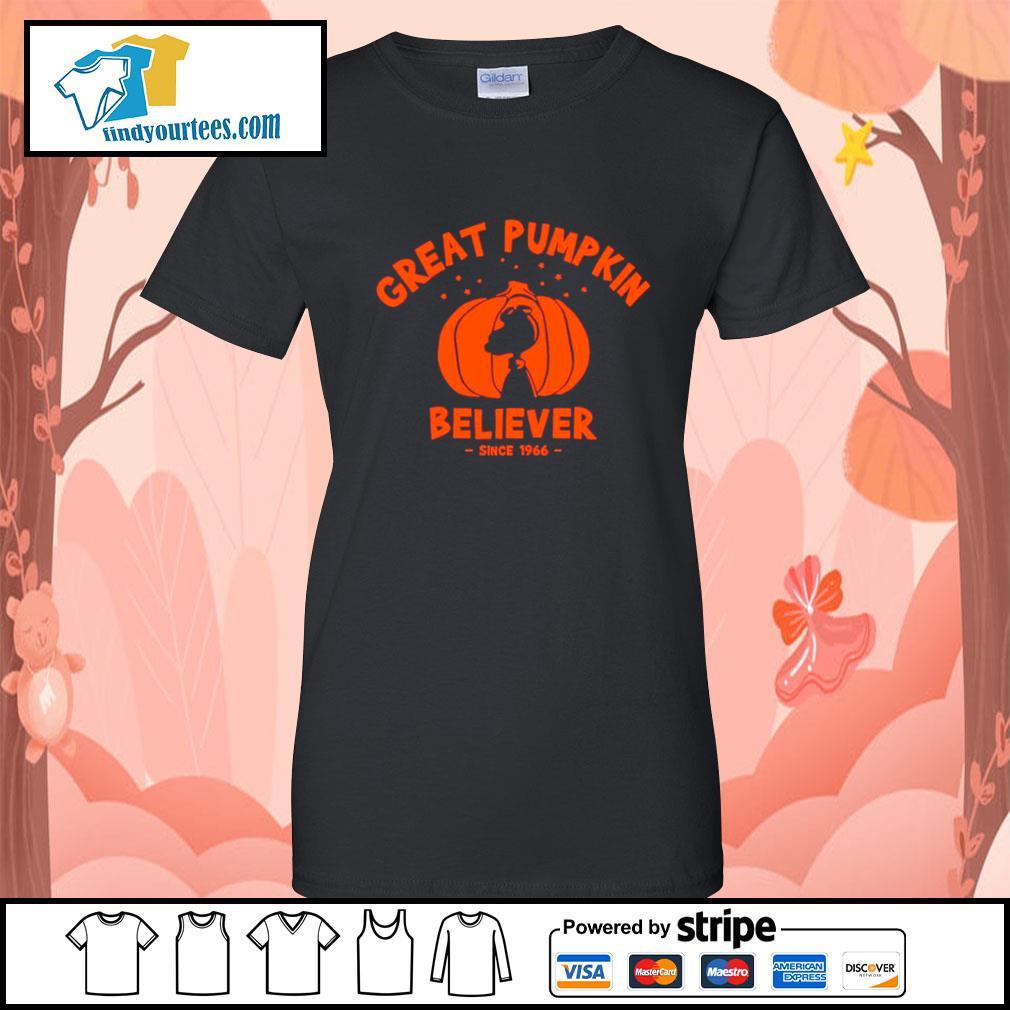 Since 1966 Great Pumpkin Believer Halloween Snoopy s Ladies-Tee