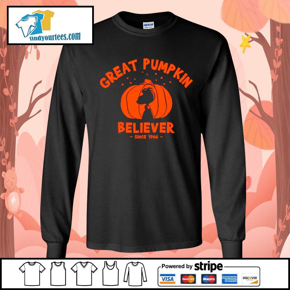 Since 1966 Great Pumpkin Believer Halloween Snoopy s Long-Sleeves-Tee