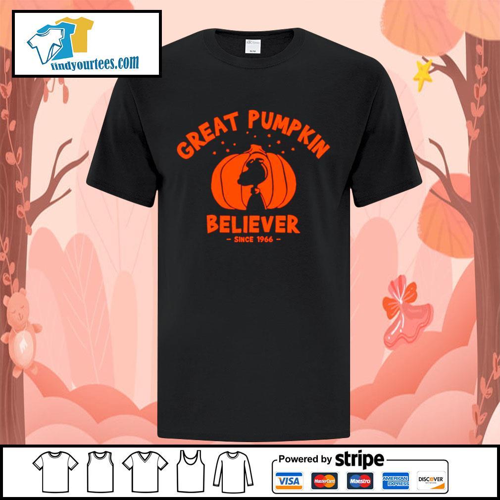 Since 1966 Great Pumpkin Believer Halloween Snoopy shirt