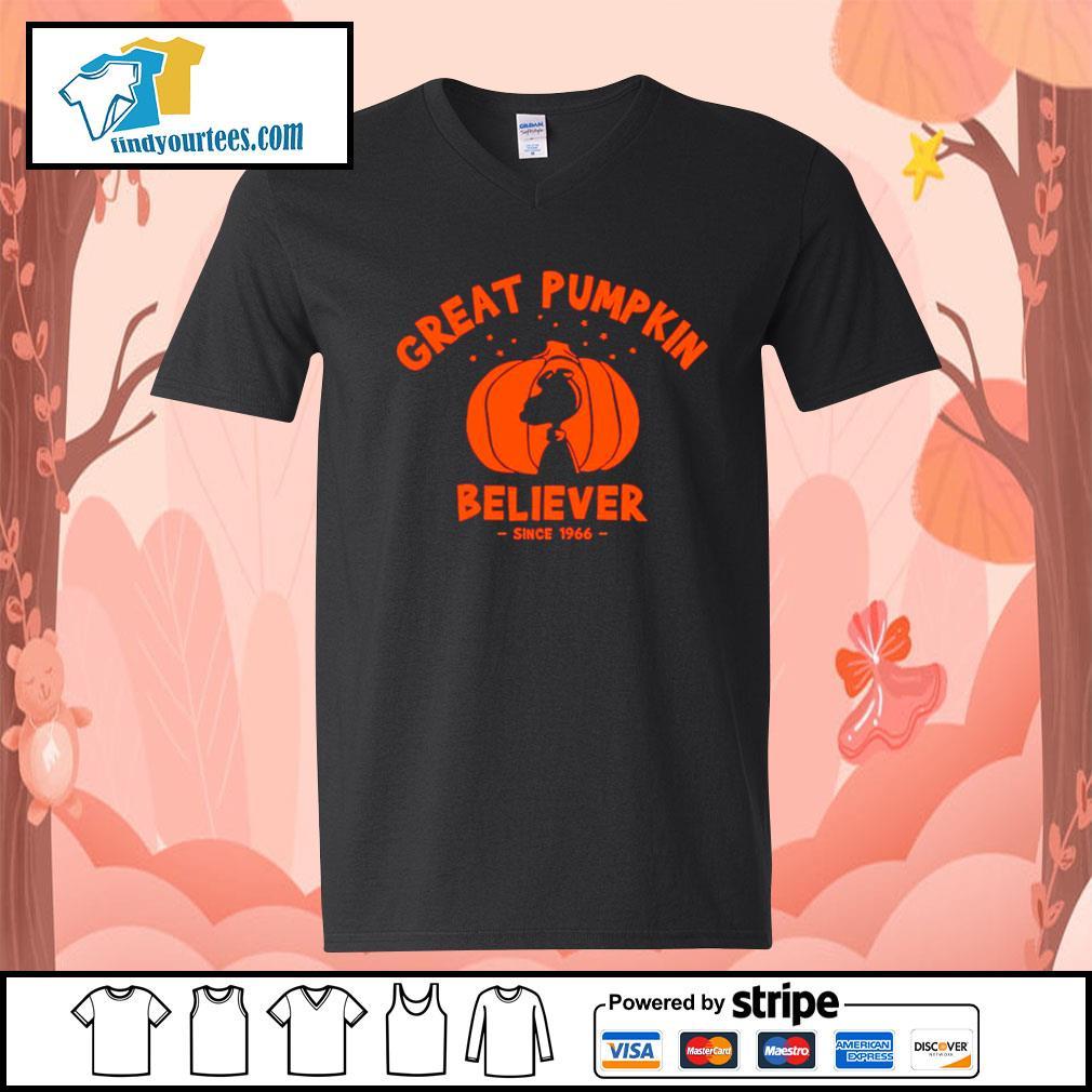 Since 1966 Great Pumpkin Believer Halloween Snoopy s V-neck-T-shirt