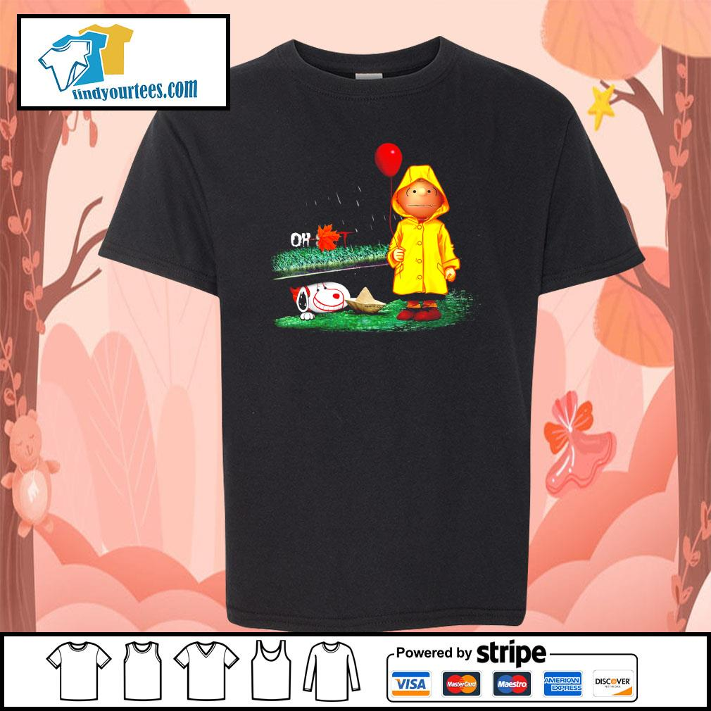 Snoopy And Charlie Brown Pennywise It s Kid-T-shirt