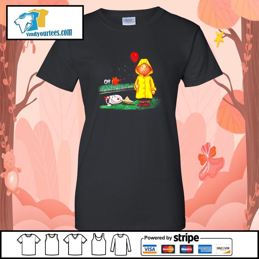 Snoopy And Charlie Brown Pennywise It s Ladies-Tee