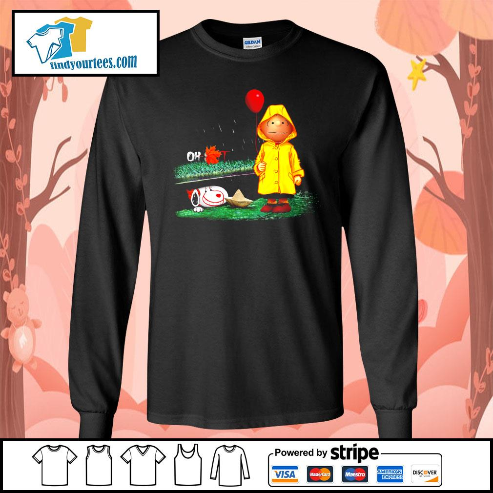 Snoopy And Charlie Brown Pennywise It s Long-Sleeves-Tee