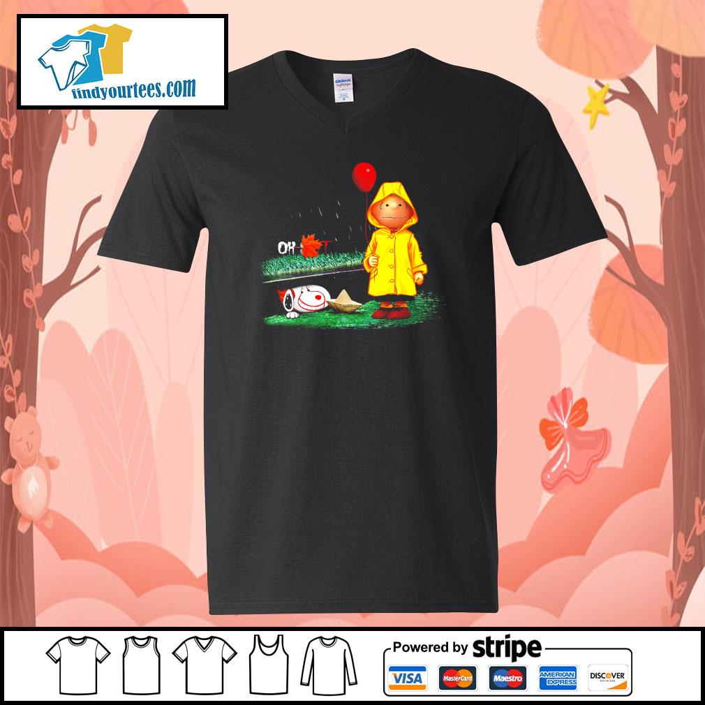 Snoopy And Charlie Brown Pennywise It s V-neck-T-shirt
