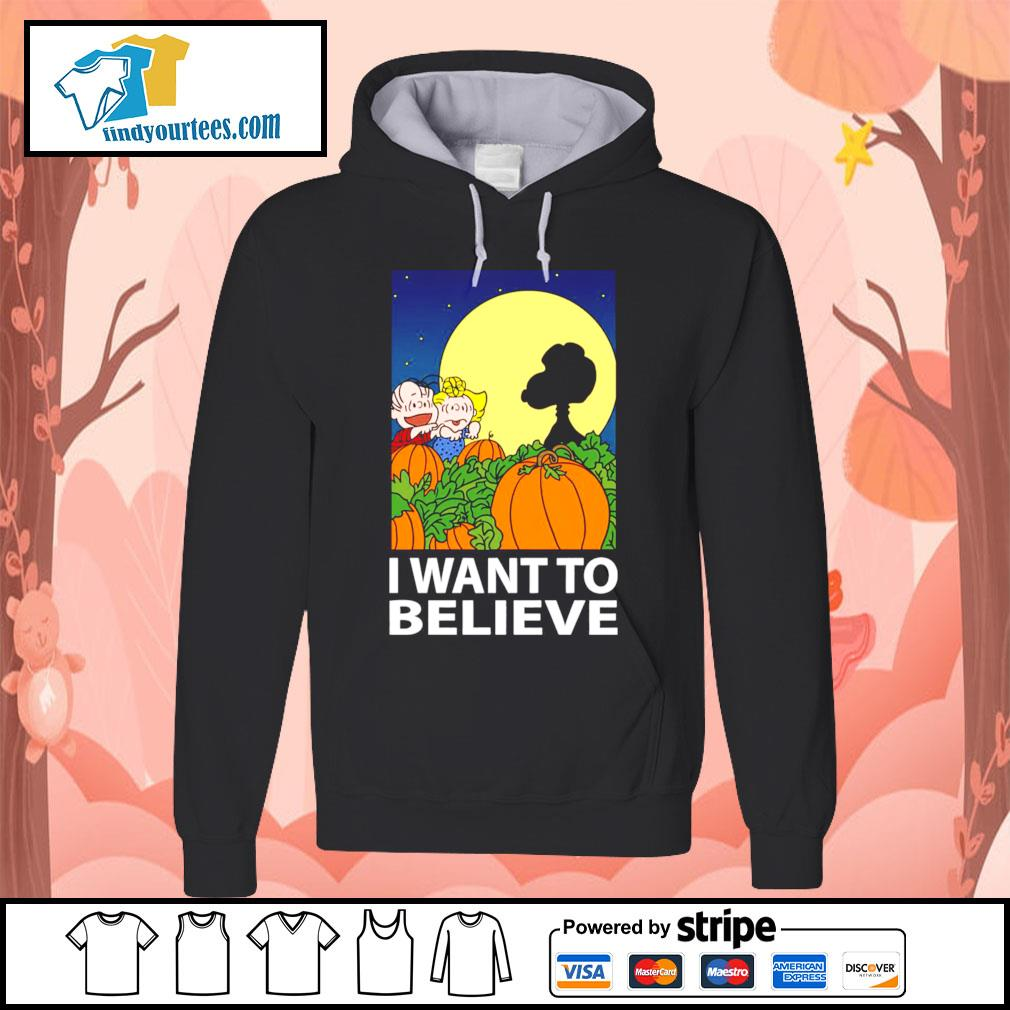 Snoopy The Great Pumpkin I want to believe Halloween s Hoodie