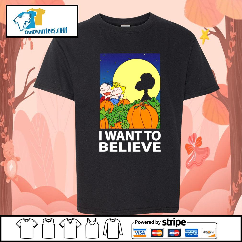 Snoopy The Great Pumpkin I want to believe Halloween s Kid-T-shirt