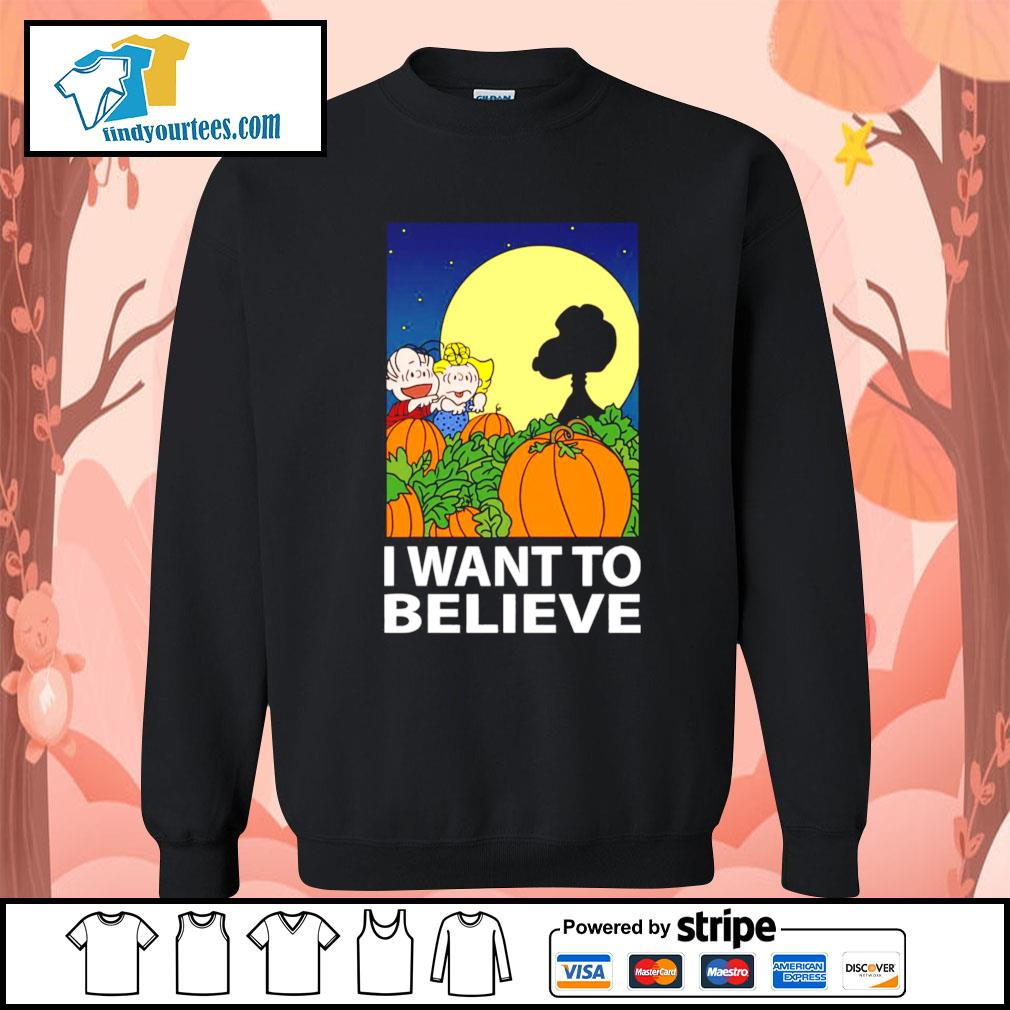 Snoopy The Great Pumpkin I want to believe Halloween s Sweater