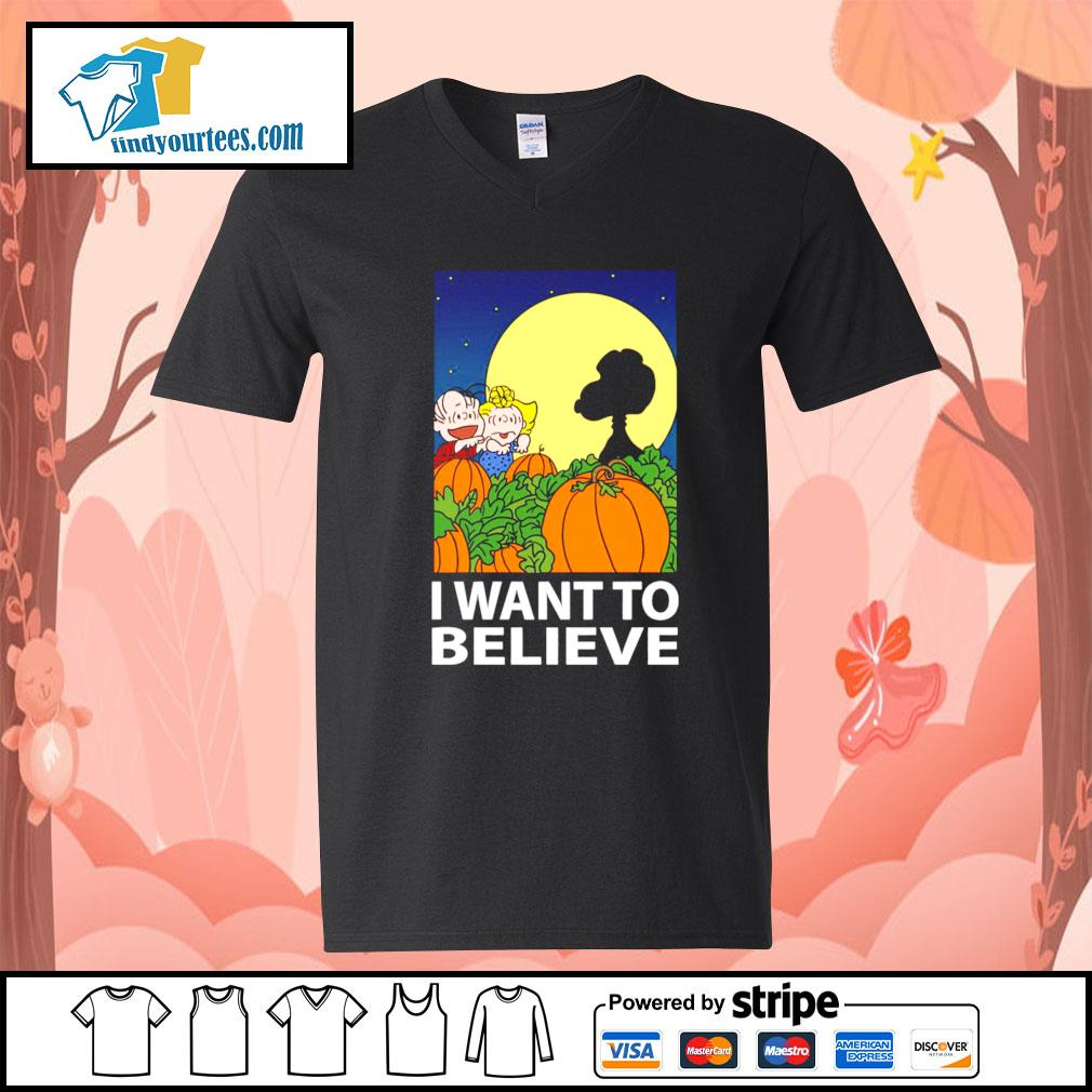 Snoopy The Great Pumpkin I want to believe Halloween s V-neck-T-shirt