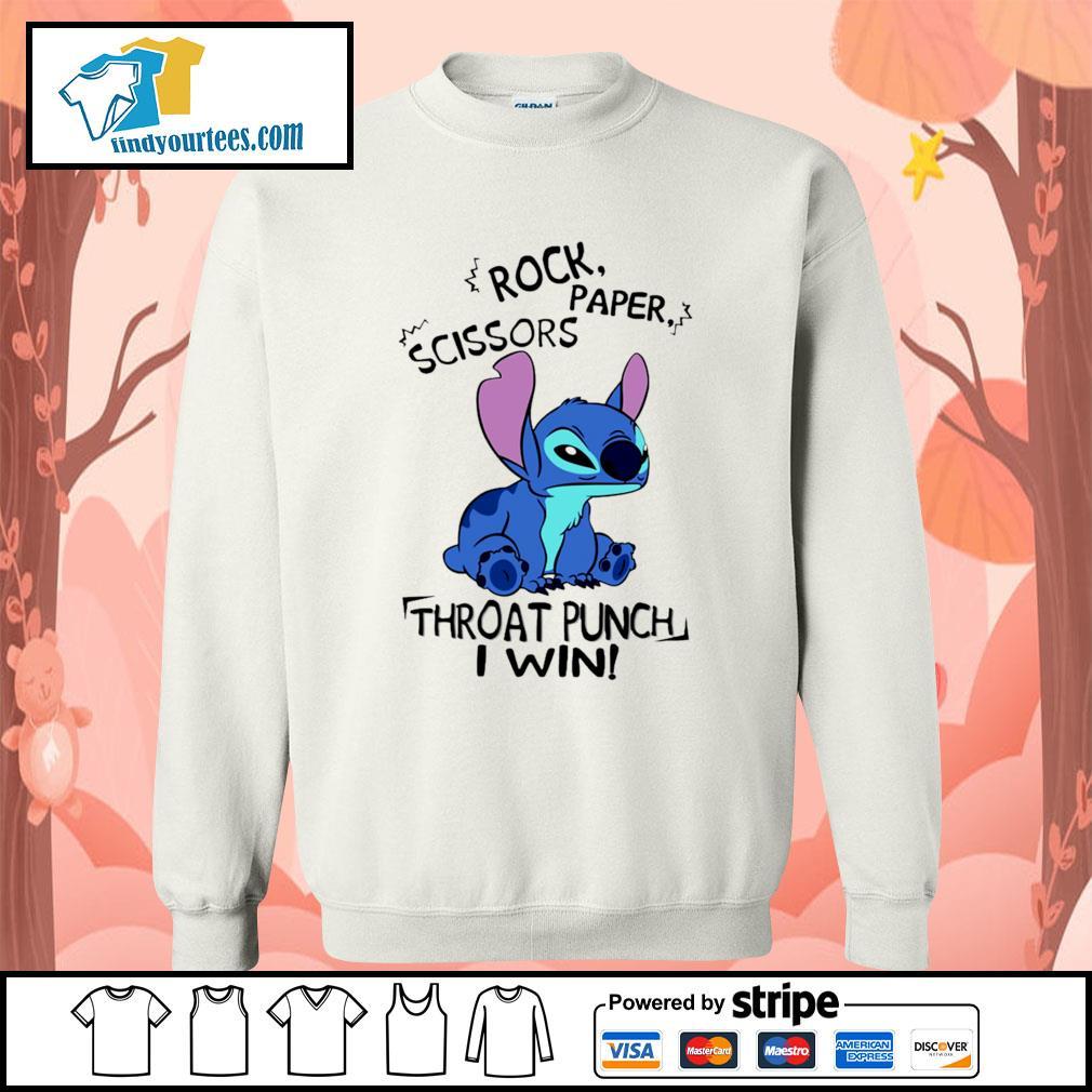 Stitch rock paper scissors throat punch I win s Sweater