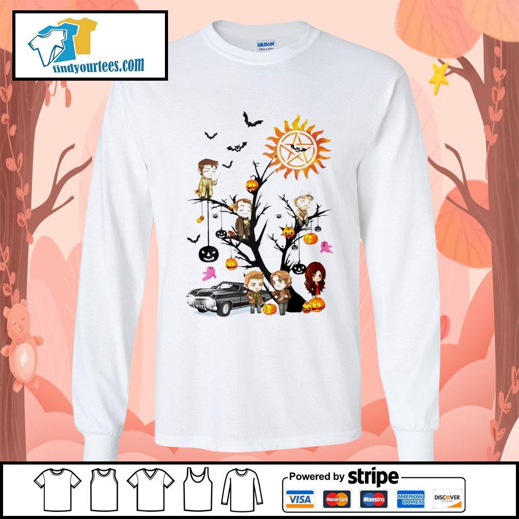 Supernatural tree Happy Halloween s Long-Sleeves-Tee