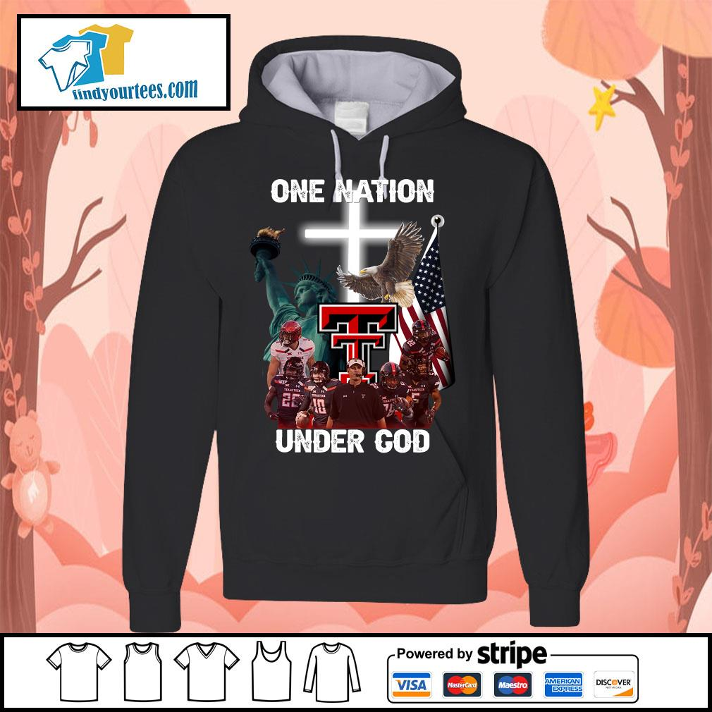 Texas Tech Red Raiders one nation under god s Hoodie