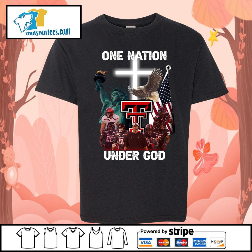 Texas Tech Red Raiders one nation under god s Kid-T-shirt