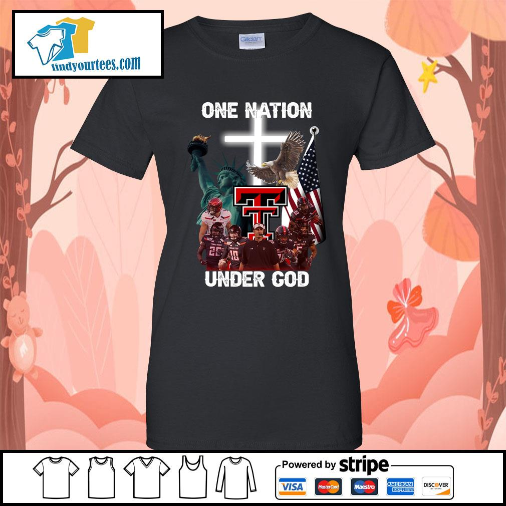 Texas Tech Red Raiders one nation under god s Ladies-Tee