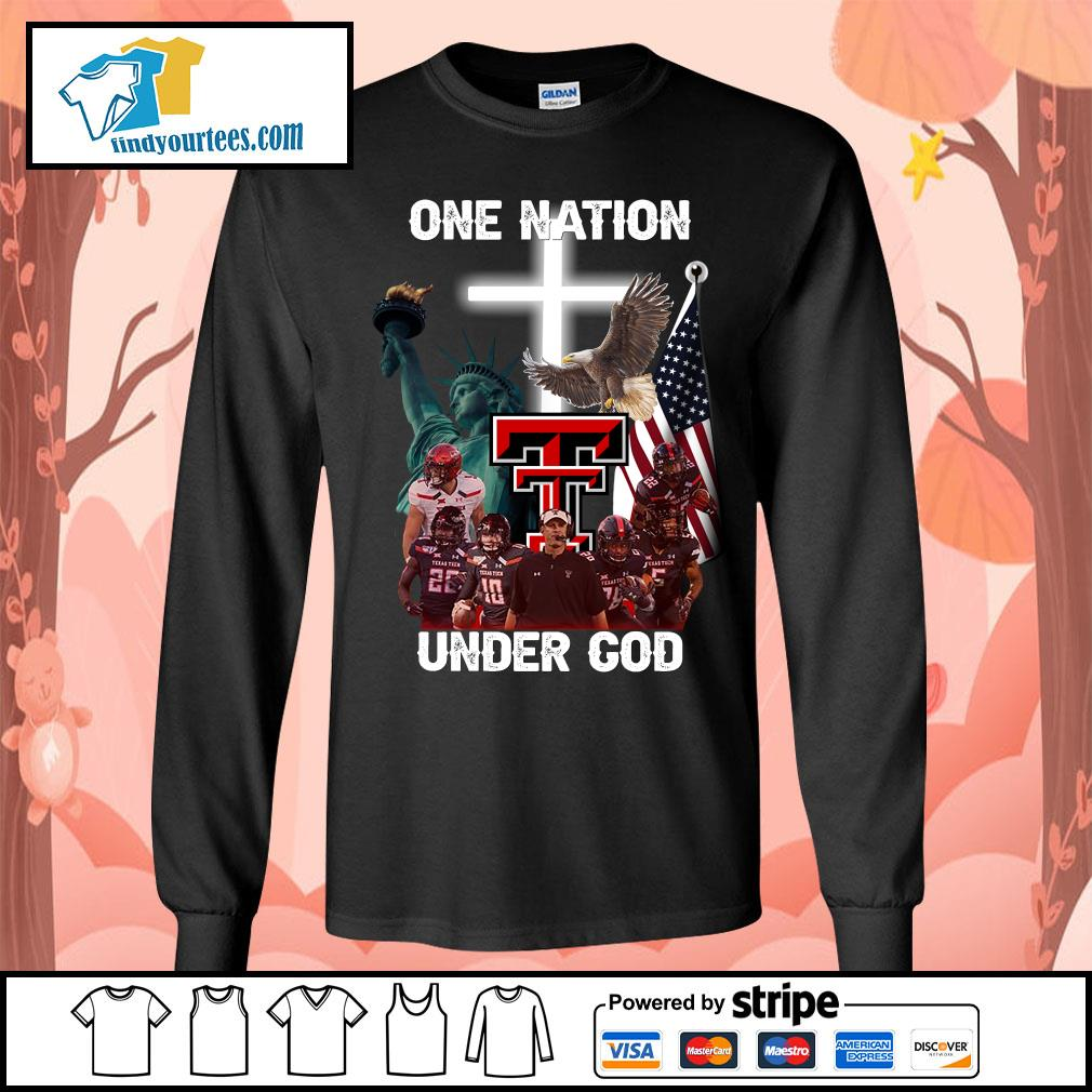 Texas Tech Red Raiders one nation under god s Long-Sleeves-Tee