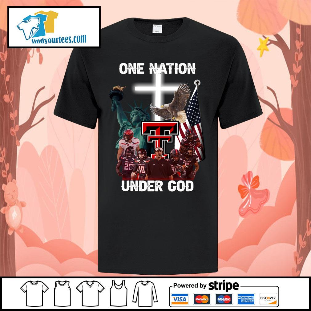 Texas Tech Red Raiders one nation under god shirt