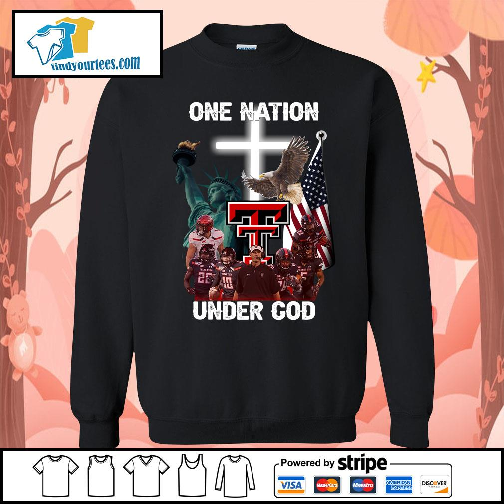 Texas Tech Red Raiders one nation under god s Sweater