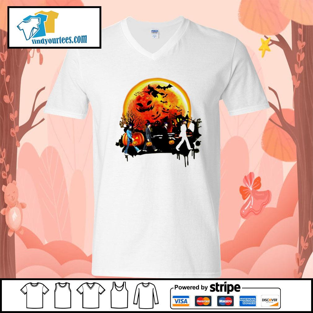 The Beatles Halloween moon s V-neck-T-shirt