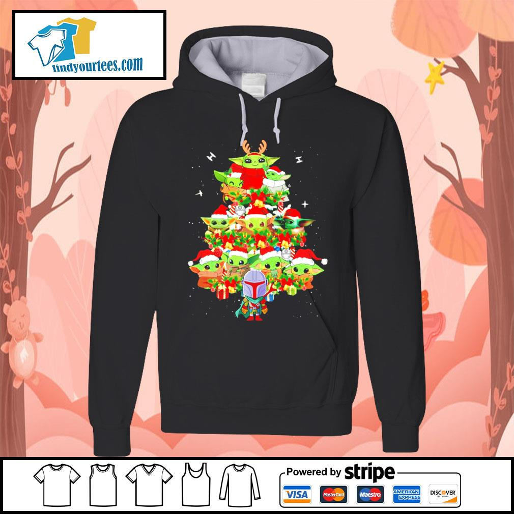 The Mandalorian and Baby Yoda tree Christmas s Hoodie