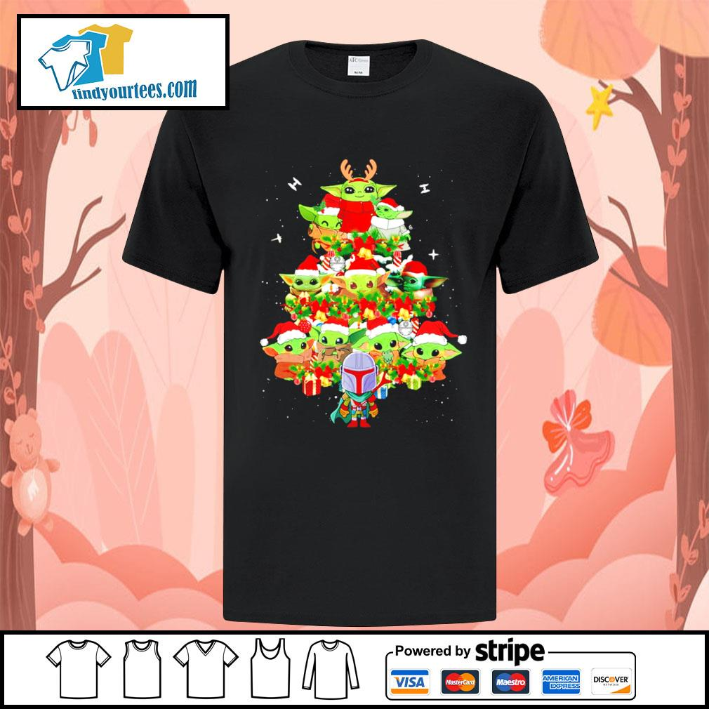 The Mandalorian and Baby Yoda tree Christmas shirt