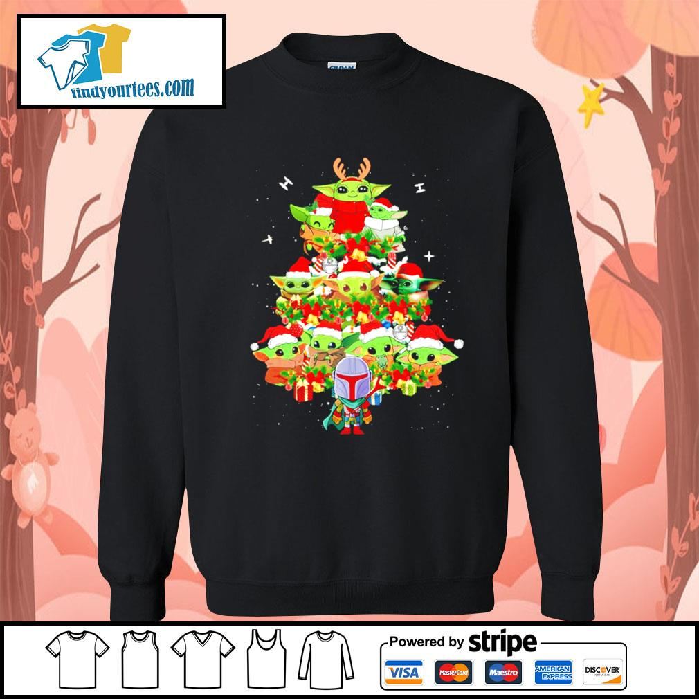 The Mandalorian and Baby Yoda tree Christmas s Sweater