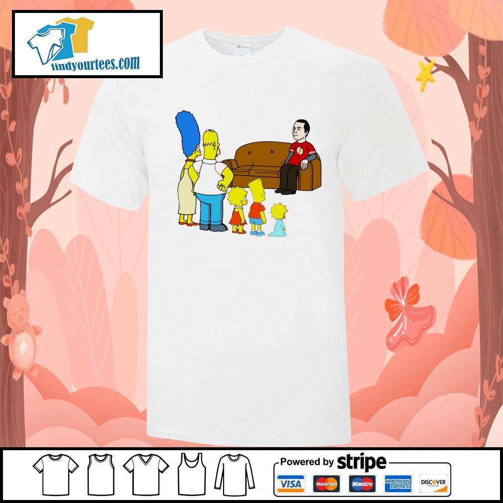 the simpsons Sheldon Cooper shirt