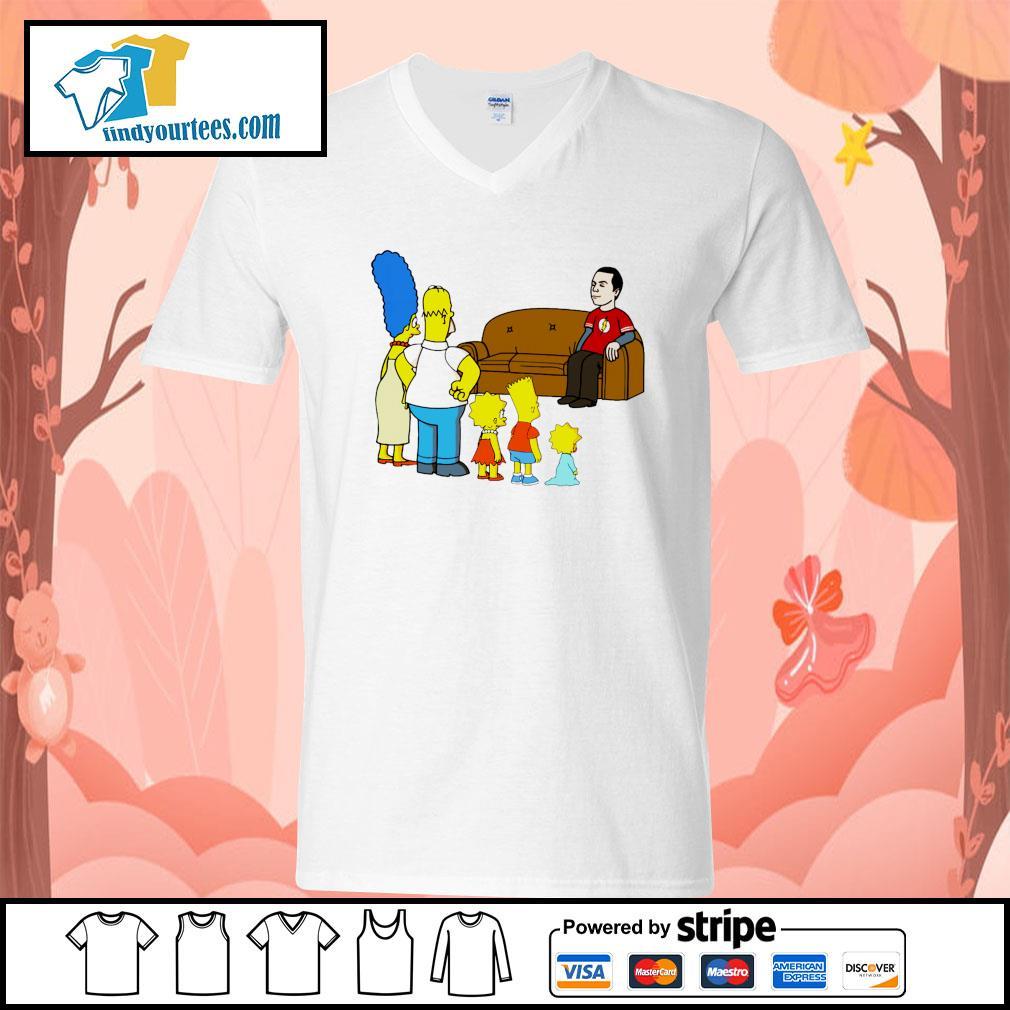 the simpsons Sheldon Cooper s V-neck-T-shirt