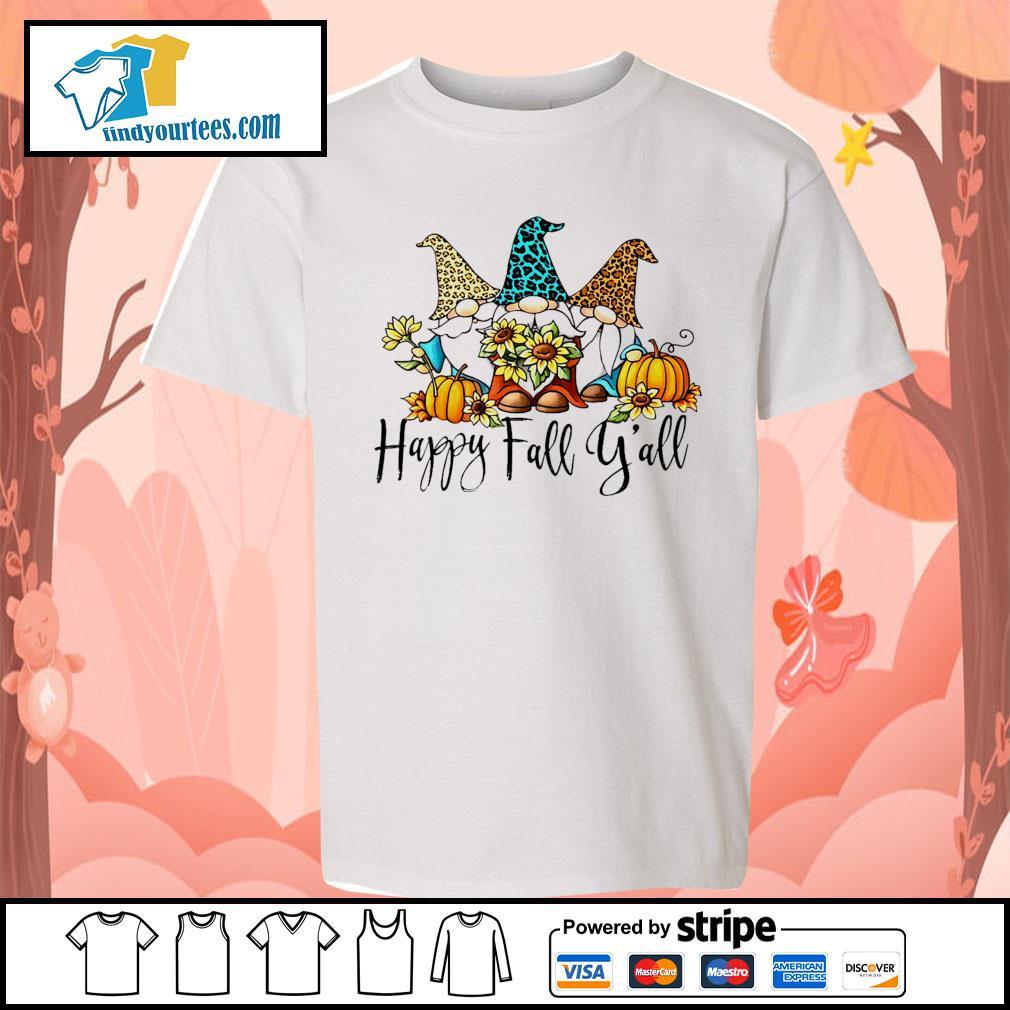 Three Gnomes happy fall y'all s Kid-T-shirt