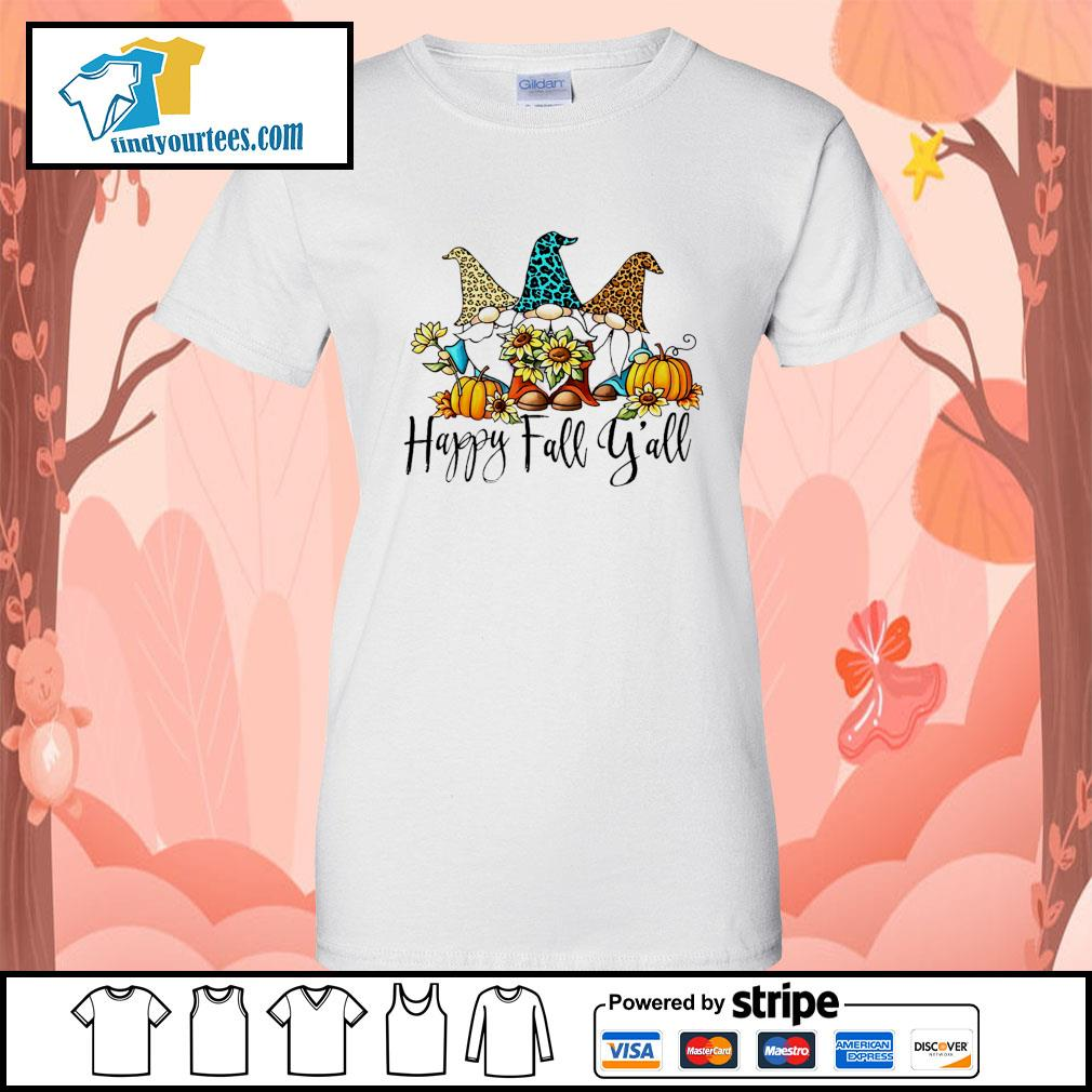 Three Gnomes happy fall y'all s Ladies-Tee