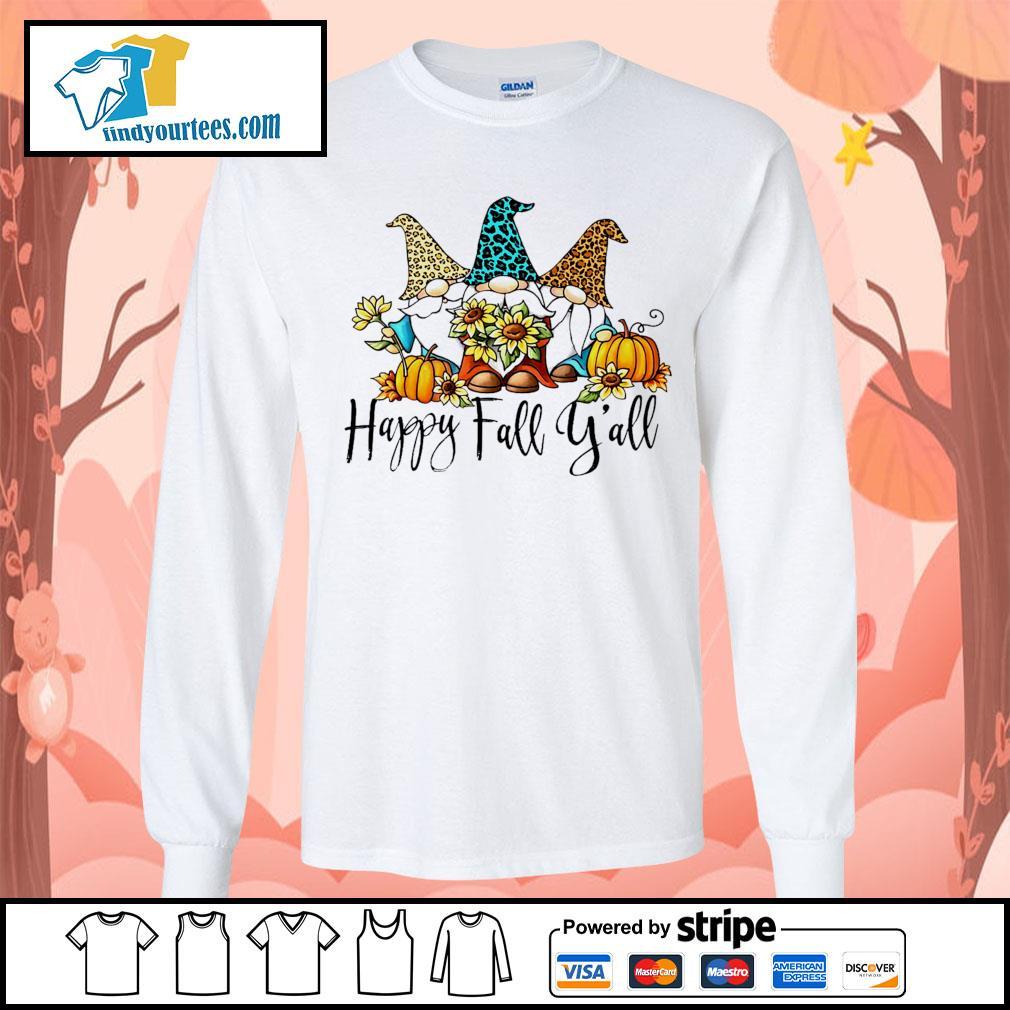 Three Gnomes happy fall y'all s Long-Sleeves-Tee